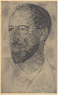 Portrait de Marcel Chabot par Pinno Della Selva