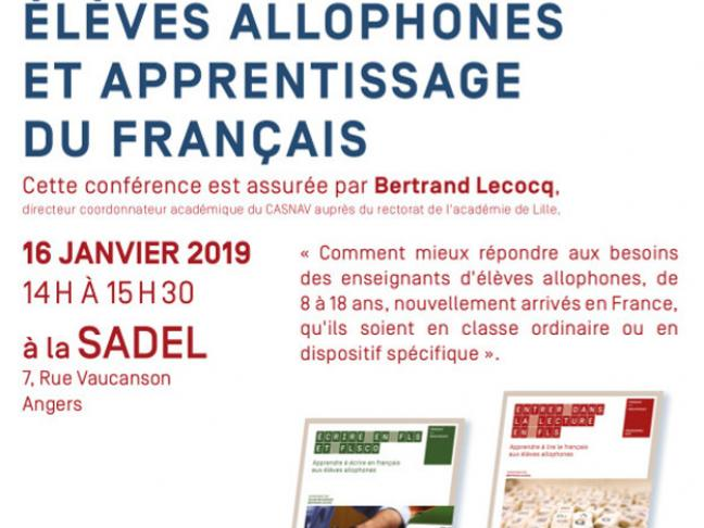 Conférence avec Bertrand Lecocq à la Sadel Angers