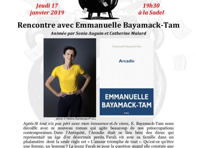 Rencontre avec Emmanuelle Bayamack-Tam