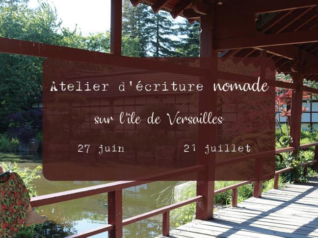 Atelier d'écriture nomade sur l'île de Versailles