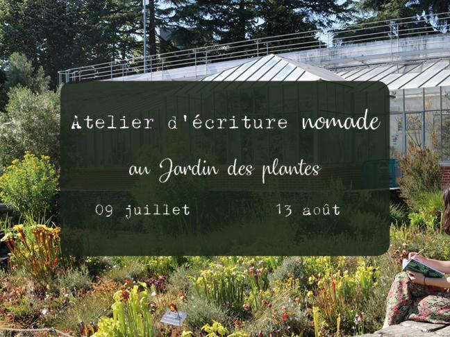 Atelier d'écriture nomade au jardin des plantes #2