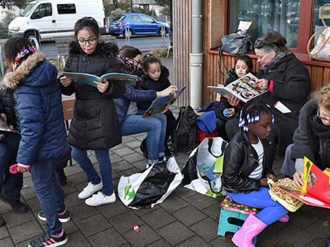 Bibliothèque de rue à Nantes