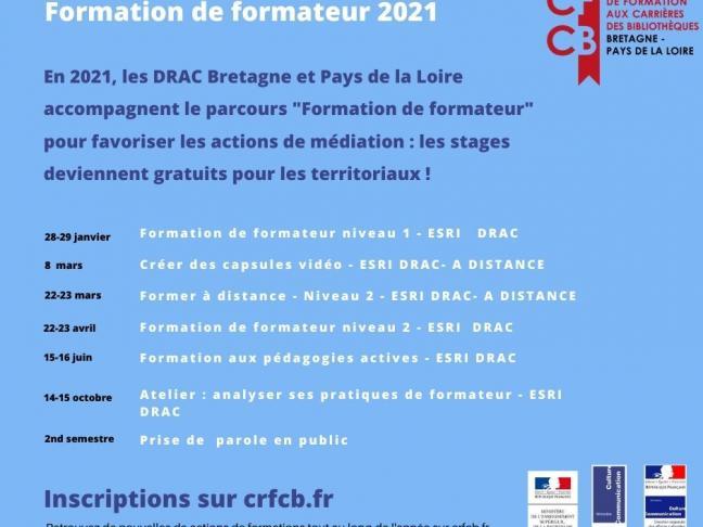 CFCB >> Formation de formateur en bibliothèques- Niveau 1 - ESRI DRAC