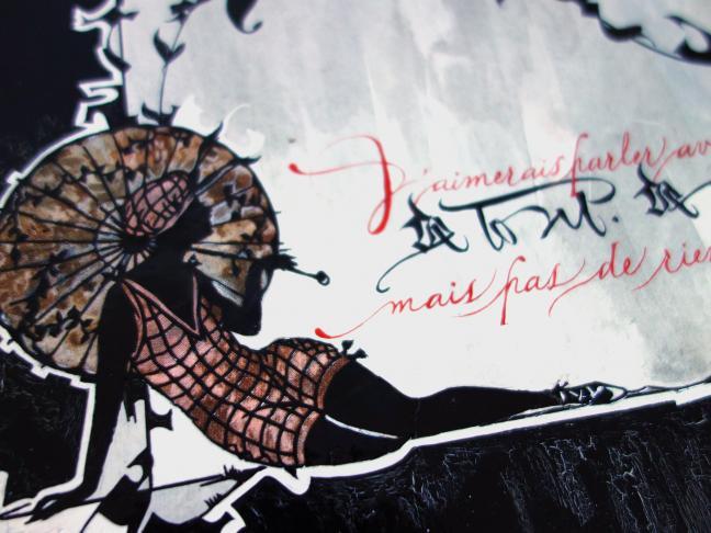 Communiquer avec delicatesse, calligraphie avec Céline Foissey
