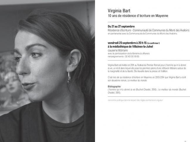 Causerie littéraire avec Virginia Bart
