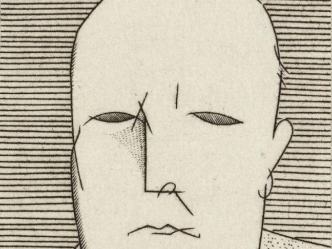 Jean Émile Laboureur, Portrait de l'artiste Date de création estimée entre 1925 et 1928.