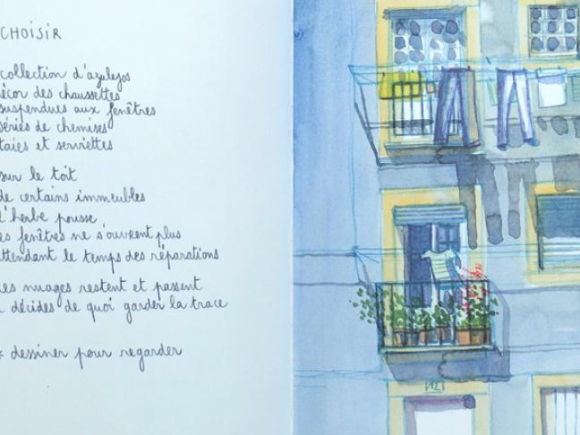 Lisbonne balades dessinées, de Valérie Linder