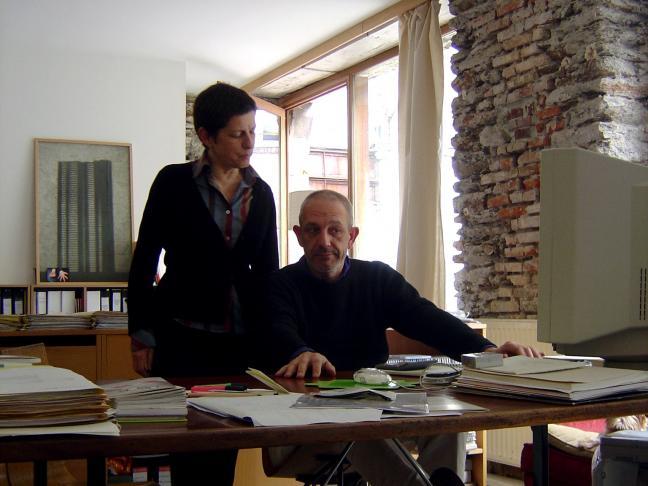 Christine Morault et Yves Mestrallet, le «maître» de la conception graphique