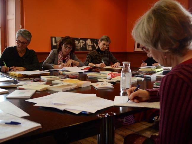 Atelier décriture Maison Gueffier - bénévoles de Lire et faire lire - avril 2015