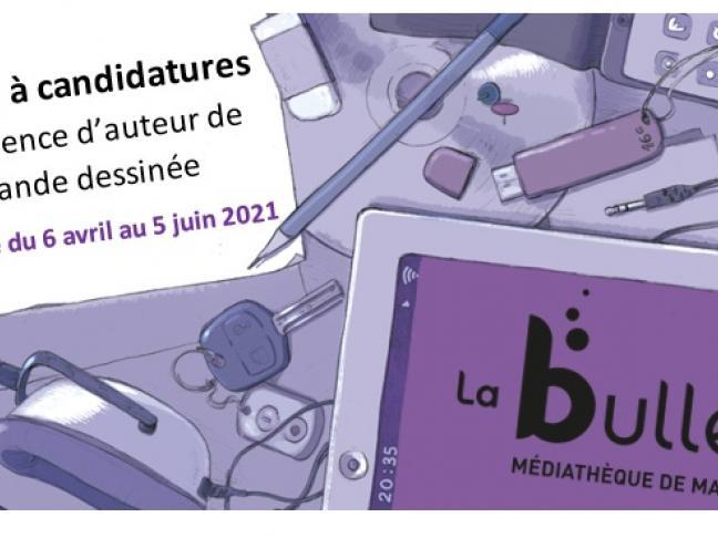 Appel à résidence BD 2021 - La Bulle Médiathèque de Mazé