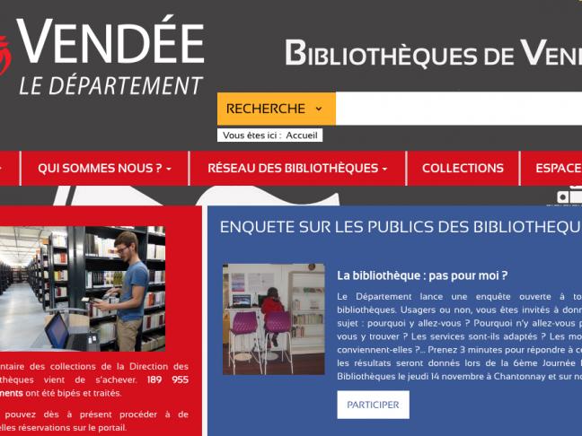 Référent de secteur à la Direction des bibliothèques du Département de Vendée