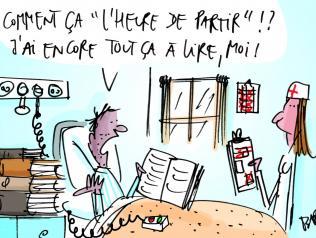 La bibliothèque du CHU d'Angers : des livres partout !